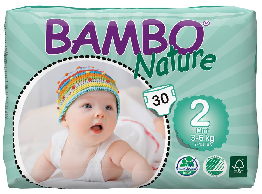 Bambo Nature Disposable Nappies  Mini  Size 2  Pack of 30