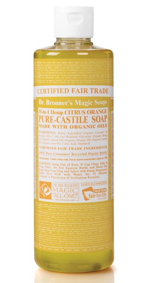 dr bronner organic liquid castile soap citrus 473ml dr bronner. Black Bedroom Furniture Sets. Home Design Ideas