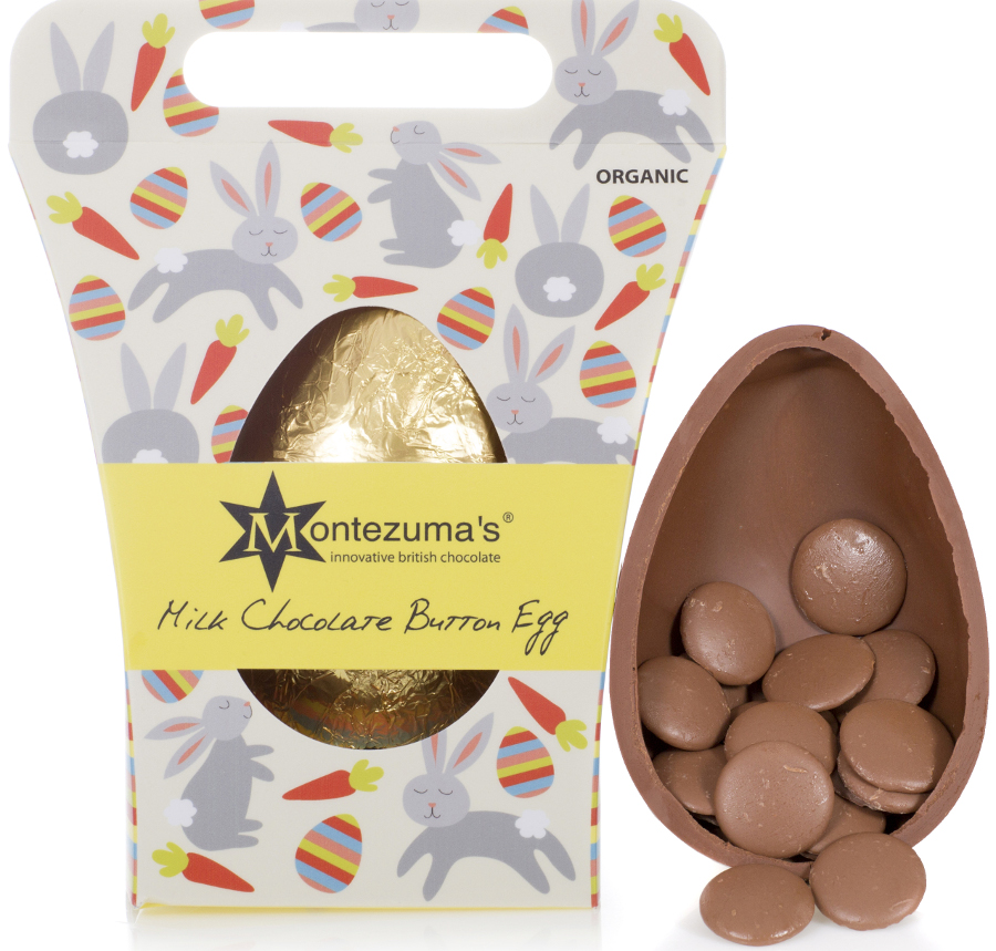 Montezumas Organic Chunky Button Easter Egg  Milk Chocolate  250g