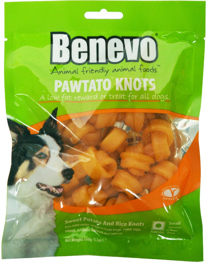 Benevo Vegan Pawtato Knots Vegan Dog Chews 150g