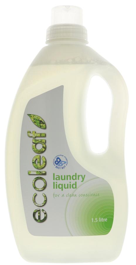 Ecoleaf Non-Bio Laundry Liquid - 1 5L - 37 Washes