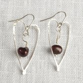 La Jewellery Recycled Silver Captured Heart Earrings