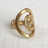 La Jewellery Recycled Brass Soliel Ring