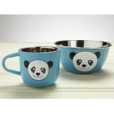 Hand Painted Panda Cup & Bowl Set