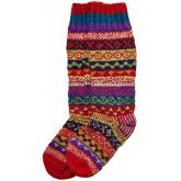 Hand Knitted Multi-Colour Socks