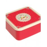 Red Vintage Doily Lunch Box