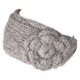 Chamonix Knitted Flower Headwrap - Oatmeal