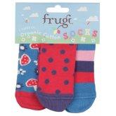 Frugi Little 3 Pack Socks - Mushrooms