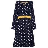 Frugi Long Sleeve Nursing Tie Dress - Navy Iris Spot