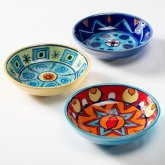 Handpainted Ceramic Dishes - Set of 3