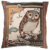 Owl Design Cotton Cushion