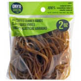 100% Natural Rubber Bands - Assorted Sizes - 2oz