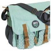 Ramie Leaf & Jute Messenger Bag - Mint