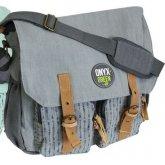 Ramie Leaf & Jute Messenger Bag - Grey