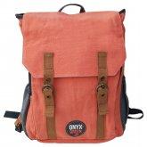 Ramie Leaf & Jute Blend Backpack - Coral