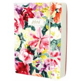 Watercolour Lily Full Year Diary - A6
