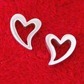 Silverchilli Curvy Heart Earrings