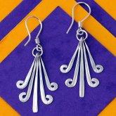 Silverchilli Flores Aztecas Earrings