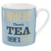 Home Front Ceramic Mug - Where There's Tea There's Hope - 400ml
