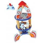 Rocket Space Ship Wooden Toy Set