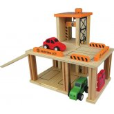 Parking Lot Wooden Toy Set