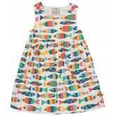 Frugi Little Pretty Rainbow Fish Party Dress