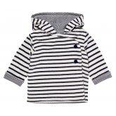Sense Organics Aron Striped Baby Jacket - Navy