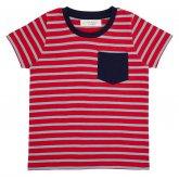 Sense Organics Ibon Short Sleeved Striped T-Shirt - Red