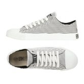 Ethletic Fairtrade Trainers - Black & White Stripes