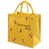 Reusable Jute Shopping Bag - Save Our Bees