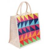 Reusable Jute Shopping Bag - Triangles