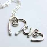 La Jewellery Fair Trade 'Mums The Word' Recycled Silver Necklace