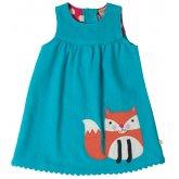 Frugi Lily Cord Fox Dress - Cornish Sea