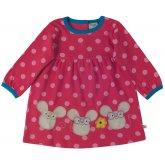 Frugi Dolcie Pink Spot Three Mice Dress