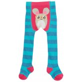 Frugi Crawl Away Mouse Tights - Harbour Blue