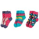 Frugi Little Hearts Socks - 3 Pack