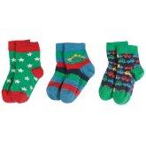 Frugi Little Dino Socks - 3 Pack