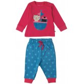 Frugi Little Long John Owl & Pussycat Pyjama Set