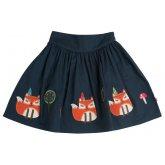 Frugi Leah Fox Skirt - Navy