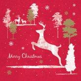 RSPB Reindeers Prancing Christmas Cards - Pack of 10