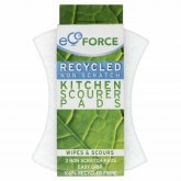 EcoForce Recycled Scourers - Non Scratch 3pk