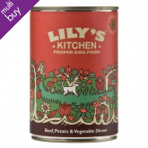 Lily's Kitchen Organic Beef & Vegetable Dinner For Dogs - 400g
