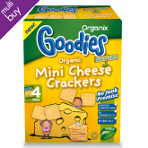 Organix Mini Cheese Crackers - 4x20g
