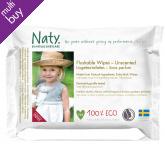 Naty Family Flushable Wipes