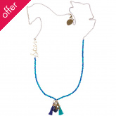 Cobalt Wishes Charm Necklace