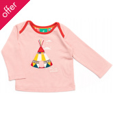 Applique Baby Tees - Pink Teepee