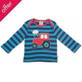 Bobby Applique Top Navy/Tractor