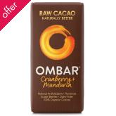 Ombar Raw Chocolate - Cranberry & Mandarin - 35g