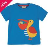 Frugi Pelican Applique T-Shirt