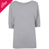 Asquith London Be Grace Batwing T-Shirt - Grey Marl